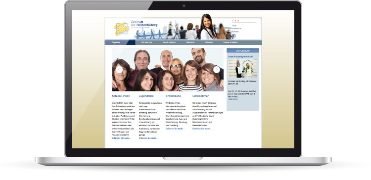 Die Website des ZfW Frankfurt läuft auf Joomla