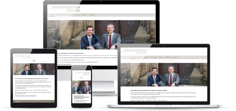 Screenshot Fackelmeier & Kollegen Website mit Wordpress, responsive Webdesign