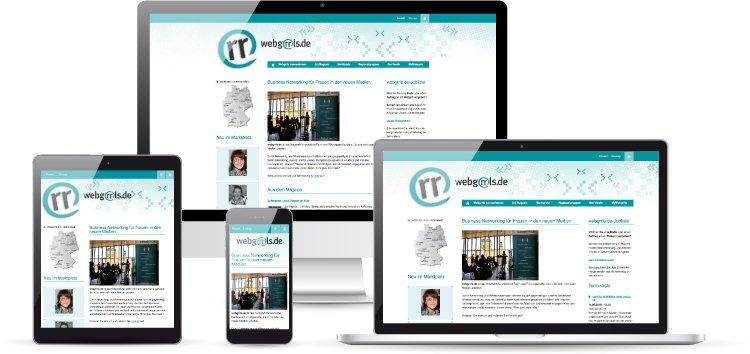 webgrrls.de - Website mit TYPO3