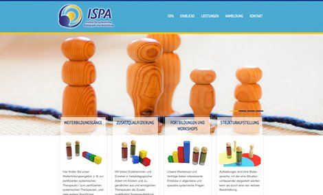 Screenshot der neuen Website des ISPA Fürth